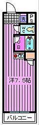 埼玉県さいたま市浦和区北浦和2丁目の賃貸マンションの間取り
