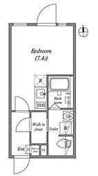 東京メトロ丸ノ内線 四谷三丁目駅 徒歩5分の賃貸マンション 3階ワンルームの間取り
