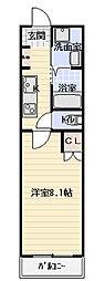 Osaka Metro谷町線 守口駅 徒歩10分の賃貸マンション 3階1Kの間取り