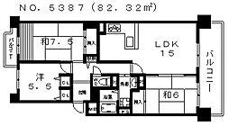 あべのベレーザ[12階]の間取り