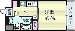 大阪府大阪市北区中津4丁目の賃貸マンションの間取り