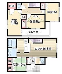 [一戸建] 愛知県名古屋市名東区高針原1丁目 の賃貸【/】の間取り