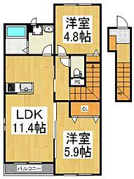 ケーズ アバンティ[2階]の間取り