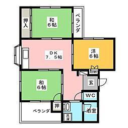R大坪II[2階]の間取り