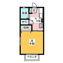 アルカディアFUJI[1階]の間取り