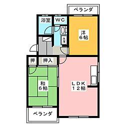 クレーバーマンション[2階]の間取り