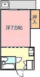 香川県高松市扇町3丁目の賃貸マンションの間取り