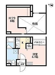 兵庫県神戸市長田区東尻池町1丁目の賃貸アパートの間取り