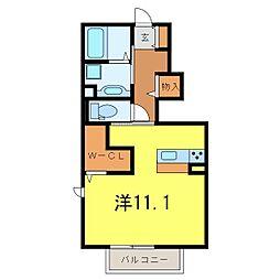 仮)D−room中島町[108号室]の間取り