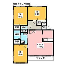 ニューガーデン参番館[3階]の間取り