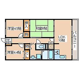 兵庫県神戸市西区宮下3丁目の賃貸マンションの間取り