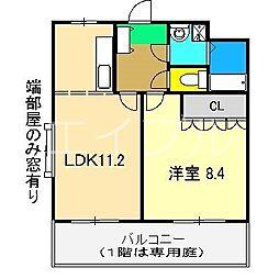 ベイサイドパレス横浜[2階]の間取り