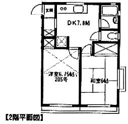 ウィル大和田[205号室]の間取り