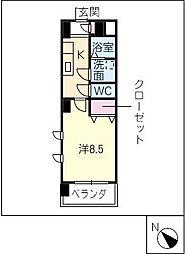 ミ カーサ・キタ[5階]の間取り