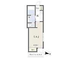 JR常磐線 北千住駅 徒歩8分の賃貸マンション 3階1Kの間取り