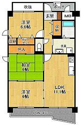 KDXレジデンス夙川ヒルズ 1番館[6階]の間取り
