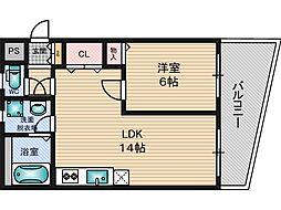 コーポ浦田[3階]の間取り