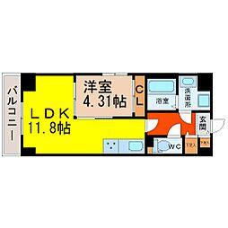 S−FORT鶴舞cube[502号室]の間取り