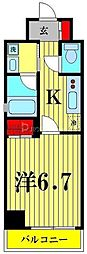 都営浅草線 本所吾妻橋駅 徒歩5分の賃貸マンション 10階1Kの間取り