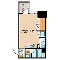 COZY名城公園 9階ワンルームの間取り