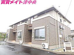 三重県津市一身田中野の賃貸アパートの外観
