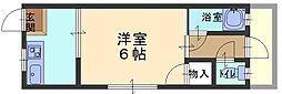 兵庫県神戸市東灘区魚崎南町2丁目の賃貸アパートの間取り