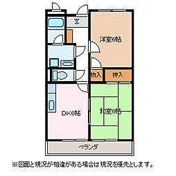 リンピアYUKI[3階]の間取り