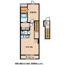 エレリーア[2階]の間取り
