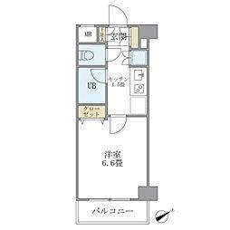 KDXレジデンス西新宿 2階1Kの間取り