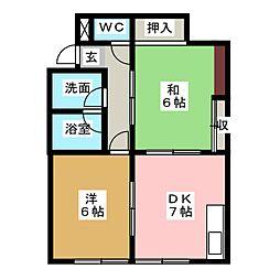 M&M[2階]の間取り