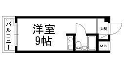 セゾン若松[0205号室]の間取り