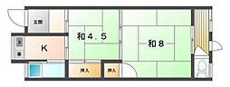 [一戸建] 大阪府守口市梶町4丁目 の賃貸【/】の間取り