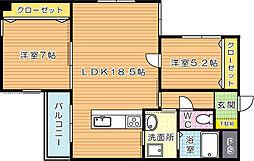 KSK中須コアプレイス[3階]の間取り