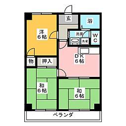 キャスリオン東刈谷[4階]の間取り