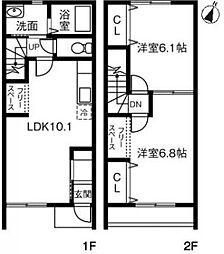 [テラスハウス] 千葉県香取市佐原イ の賃貸【/】の間取り