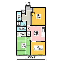 ハイツエリオン[3階]の間取り
