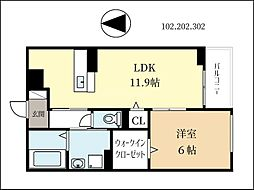 京阪本線 淀駅 徒歩31分の賃貸アパート 1階1LDKの間取り