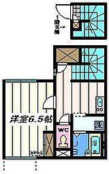東京都足立区江北7丁目の賃貸アパートの間取り
