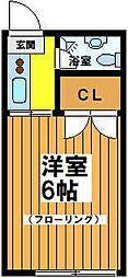 東京都杉並区浜田山2丁目の賃貸アパートの間取り