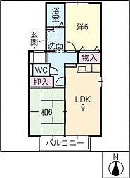 セジュール碧E[2階]の間取り
