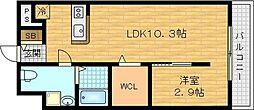 J・Qualior 2階1LDKの間取り