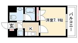 S-FORT藤ヶ丘[206号室]の間取り