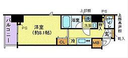 ZOOM横濱EAST 4階1Kの間取り