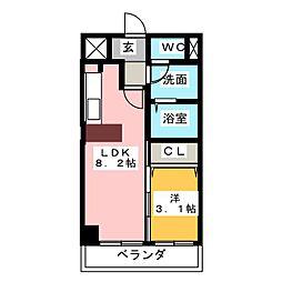 CASA DEL SOL[3階]の間取り