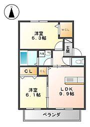 マンハイム[2階]の間取り
