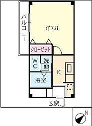 エクシード弥生[1階]の間取り