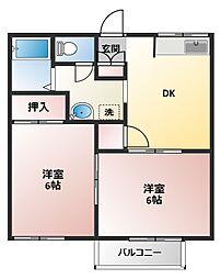 大黒屋ハイツ5番館(ダイコクヤハイツ5バンカン)[1階]の間取り