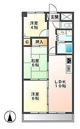 イゾラグランデ[2階]の間取り