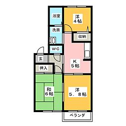BelleSophiaImaise B棟[2階]の間取り
