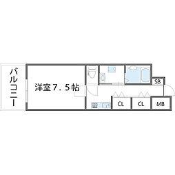 ロネスタ新深江[804号室]の間取り